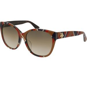 Gucci Sunglasses Yellow Brown w/Brown Lens